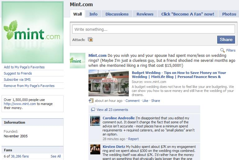 Mint-FacebookPage