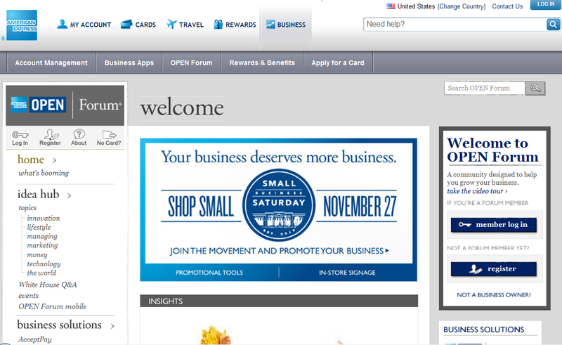 AmericanExpress-SmallBusinessSaturday-PromoonOPENForum-26November2010