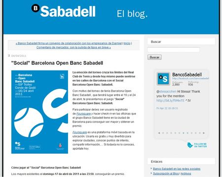 BancoSabadell-Foursquare-REWARDwithTennisTickets