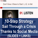 10-Step Strategy to Sail Through a Crisis Thanks to Social Media