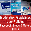 List of Social Media User Policies & Moderation Guidelines in Banking, Financial Services, Insurance
